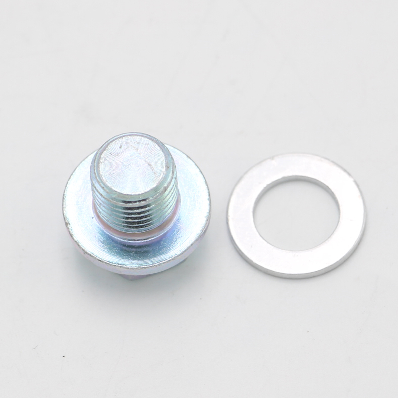 OEM Engine Oil Pan Drain Bolt Plug W/ Washer For Honda