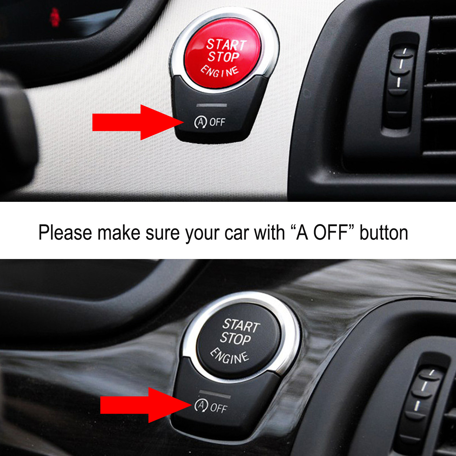 Red Start Stop Engine Button Switch Cover Fit For BMW 3/5