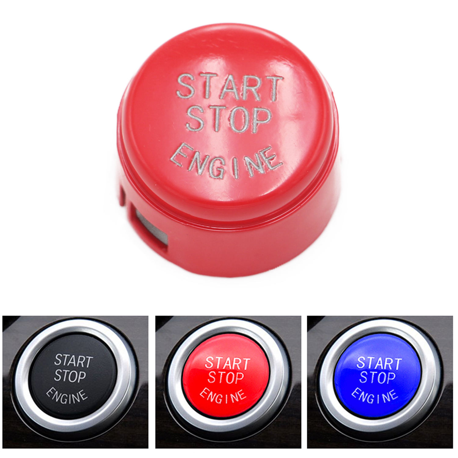 1x Start Stop Engine Button Switch Cover for 2009-2013 BMW 5 6 7 F01 F02 F10 F11